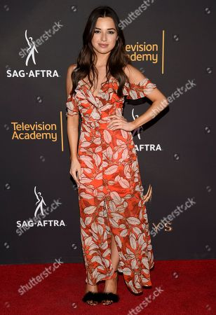 Jessica Meraz arrives at the 2017 Dynamic and Diverse Emmy Nominee Reception presented by the Television Academy, at the Saban Media Center in North Hollywood, Calif