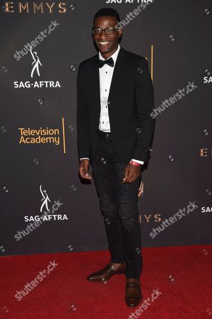 Stock Picture of Brandon K. Hampton arrives at the 2017 Dynamic and Diverse Emmy Nominee Reception presented by the Television Academy, at the Saban Media Center in North Hollywood, Calif