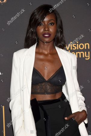 Anna Diop arrives at the 2017 Dynamic and Diverse Emmy Nominee Reception presented by the Television Academy, at the Saban Media Center in North Hollywood, Calif