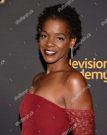 Eme Ikwuakor arrives at the 2017 Dynamic and Diverse Emmy Nominee Reception presented by the Television Academy, at the Saban Media Center in North Hollywood, Calif