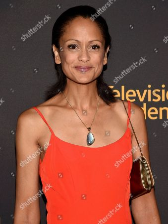 Stock Photo of Eme Ikwuakor arrives at the 2017 Dynamic and Diverse Emmy Nominee Reception presented by the Television Academy, at the Saban Media Center in North Hollywood, Calif