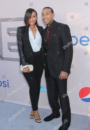 "Eudoxie Agnan, left, and Chris 'Ludacris' Bridges at the ""PRE"" BET Awards Dinner at Milk Studios, in Los Angeles, Calif"