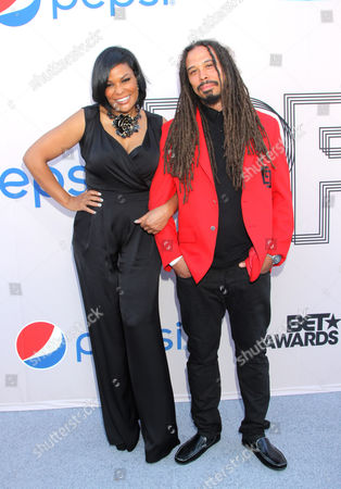 "Stock Picture of Beverly Bond and Bazaar Royale arrive at the ""PRE"" BET Awards Dinner at Milk Studios, in Los Angeles, Calif"