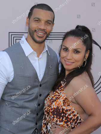 "Aaron D. Spears, left, and Estela Spears at the ""PRE"" BET Awards Dinner at Milk Studios, in Los Angeles, Calif"