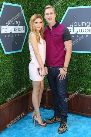 Stock Image of Bella Thorne and boyfriend Tristan Klier seen at the 16th Annual Young Hollywood Awards at The Wiltern on in Los Angeles, California