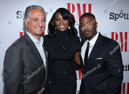 Del Bryant, BMI President & CEO, Catherine Brewton, BMI Vice President and Ray J arrive at the BMI Urban Awards honoring Mariah Carey held at the Saban theatre, in Beverly Hills, Calif