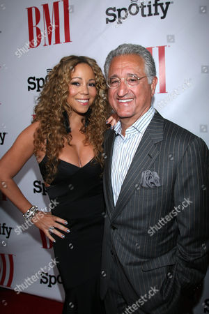 IMAGE DISTRIBUTED FOR BMI-Mariah Carey and Del Bryant, BMI President & CEO at the 2012 BMI Urban Awards, in Beverly Hills, Calif