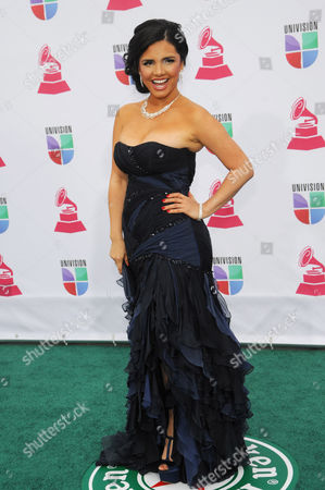 Karen Hoyos arrives at the 13th Annual Latin Grammy Awards at Mandalay Bay, in Las Vegas