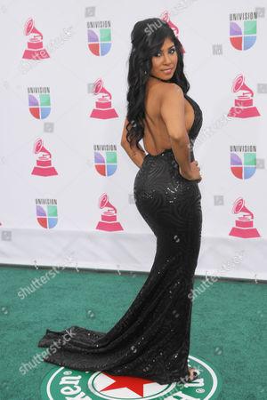 Stock Photo of Elizabeth Ortiz arrives at the 13th Annual Latin Grammy Awards at Mandalay Bay, in Las Vegas