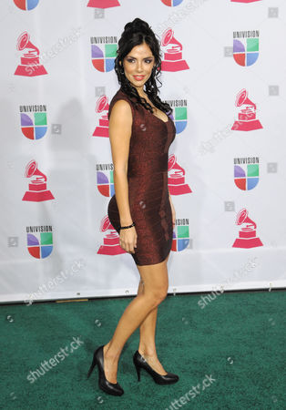 Mariann Gavelo arrives at the 13th Annual Latin Grammy Awards at Mandalay Bay, in Las Vegas