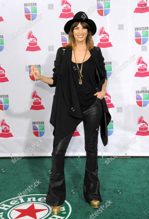 Deborah de Corral arrives at the 13th Annual Latin Grammy Awards at Mandalay Bay, in Las Vegas
