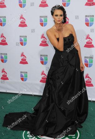 Shaila Durcal arrives at the 13th Annual Latin Grammy Awards at Mandalay Bay, in Las Vegas