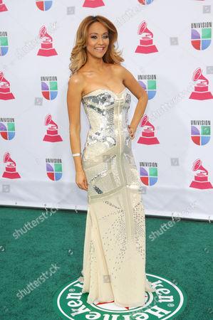 Veronica Bastos arrives at the 13th Annual Latin Grammy Awards at Mandalay Bay, in Las Vegas