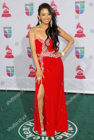 Desiree Estrada arrives at the 13th Annual Latin Grammy Awards at Mandalay Bay, in Las Vegas