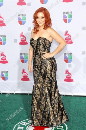 Marilyn Odessa arrives at the 13th Annual Latin Grammy Awards at Mandalay Bay, in Las Vegas