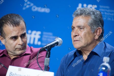 "Director/writer/producer Bahman Ghobadi and actor Behrouz Vossoughi participate in a photo call and press conference for the film ""Rhino Season"" at TIFF Bell Lightbox during the Toronto International Film Festival, in Toronto"