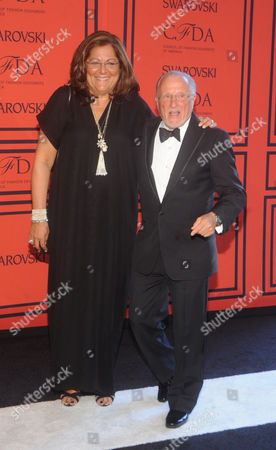 Fern Mallis, left, and Stan Herman attend the 2013 CFDA Fashion Awards at Alice Tully Hall on in New York