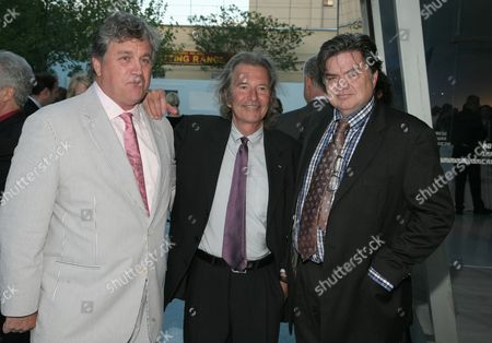 From left, Sony Pictures Classics Co-Founder Tom Bernard, Unique Pictures co-CEO Bob Shaye and actor Oliver Platt attend the 2013 Envision Awards presented by the Museum of the Moving Image, on in New York