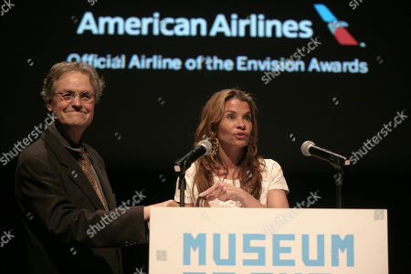 Director Jonathan Demme, left, and screenwriter Jenny Lumet, right, appear onstage at the 2013 Envision Awards presented by the Museum of the Moving Image, on in New York