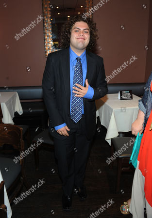 NEW YORK, CA - MAY 13: Dustin Ybarra is seen in the green room at the 2013 FOX Programming Presentation at Citrus Restaurant on in New York, New York
