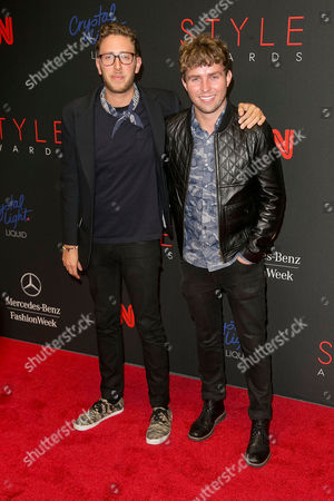 Alan Eckstein and Timo Weiland arrives at the 2013 Style Awards at Lincoln Center on in New York