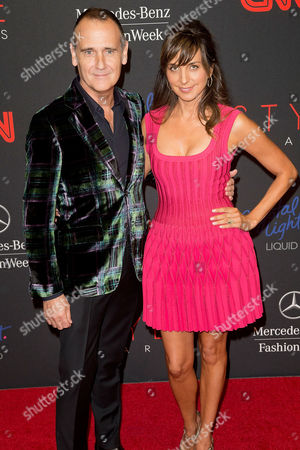 Stock Photo of Nigel Curtiss and Monica Mitro arrives at the 2013 Style Awards at Lincoln Center on in New York