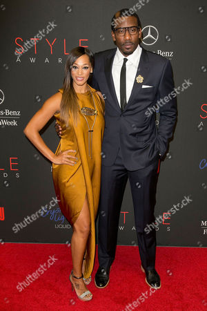 Alexis Welch and Amar'e Stoudemire arrives at the 2013 Style Awards at Lincoln Center on in New York