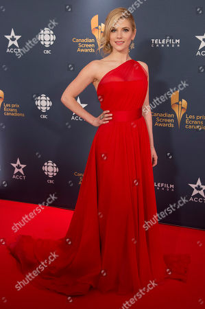 Actress Kathryn Winnick poses on the red carpet at the 2014 Canadian Screen Awards on in Toronto, Canada