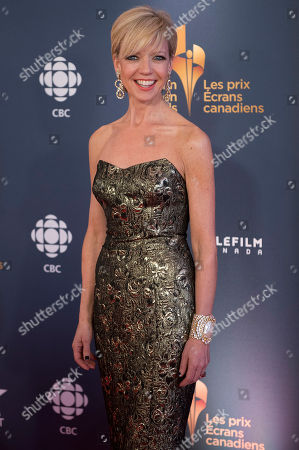 Stock Picture of CBC News Host Heather Hiscox poses on the red carpet at the 2014 Canadian Screen Awards on in Toronto, Canada