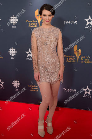 Actress Liane Balaban poses on the red carpet at the 2014 Canadian Screen Awards on in Toronto, Canada