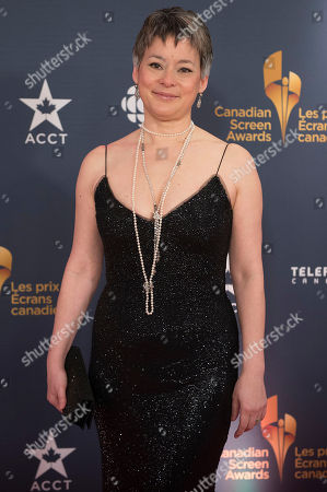 Stock Picture of Actress Meg Tilly poses on the red carpet at the 2014 Canadian Screen Awards on in Toronto, Canada