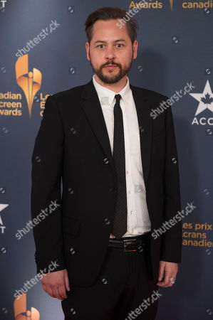 Stock Picture of Writer/Director Jonathan Sobol poses on the red carpet at the 2014 Canadian Screen Awards on in Toronto, Canada