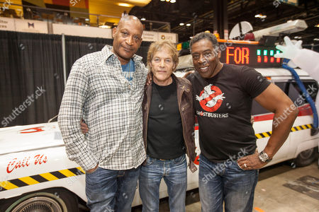 Actors Tony Todd, Michael Masse and Ernie Hudson at the Chicago Comic & Entertainment Expo at McCormick Place, in Chicago