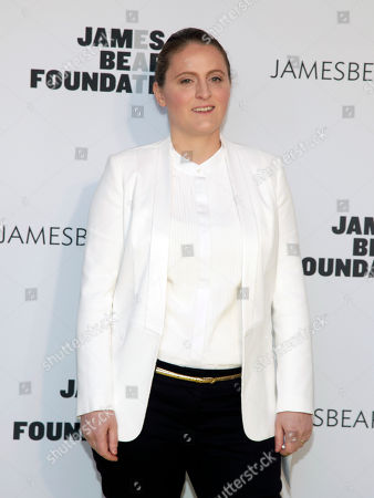 Stock Image of Restauranteur April Bloomfield attends the 2014 James Beard Foundation Awards, in New York