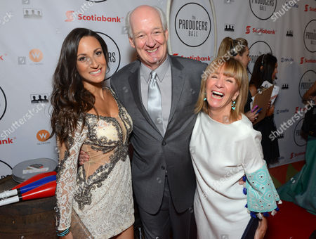 Stock Photo of Sitara Hewitt and, from left, Debra McGrath and Colin Mochrie attend the Producers Ball at the Royal Ontario Museum, in Toronto