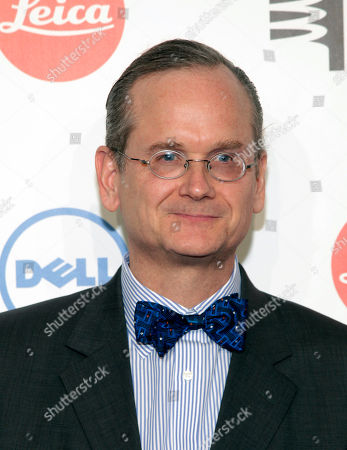 Stock Image of Legal professor Lawrence Lessig attends the 2014 Webby Awards, in New York