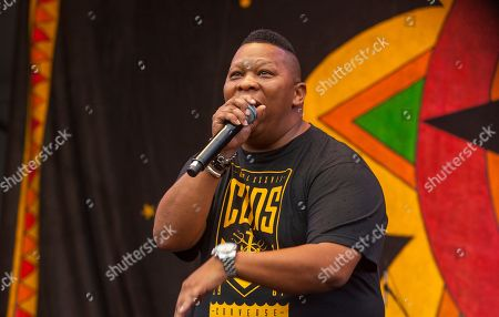 Mannie Fresh performs with Juvenile & Mannie Fresh Together at the New Orleans Jazz & Heritage Festival, on in New Orleans