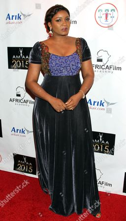 Stock Photo of Nigerian actress Omotola Jalade Ekeinde seen at 2015 AMAA Nominations Dinner at H.O.M.E., in Beverly Hills, Calif