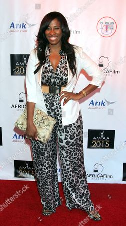 Actress Shondrella Avery seen at 2015 AMAA Nominations Dinner at H.O.M.E., in Beverly Hills, Calif