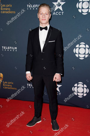 Antoine-Olivier Pilon arrives at the Canadian Screen Awards, in Toronto, Canada