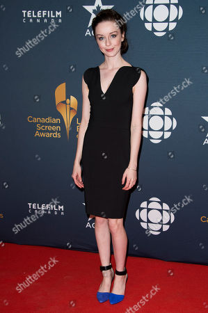 Kacey Rohl arrives at the Canadian Screen Awards, in Toronto, Canada