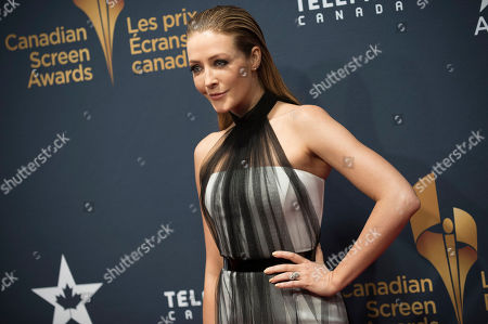 Jennifer Finnigan arrives at the Canadian Screen Awards, in Toronto, Canada