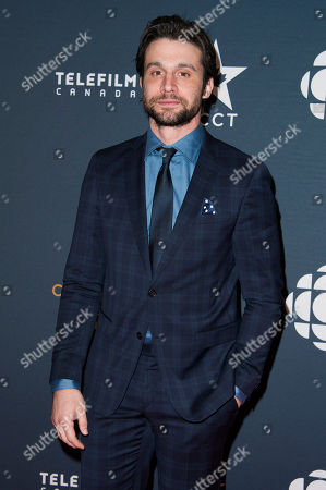 Dillon Casey arrives at the Canadian Screen Awards, in Toronto, Canada