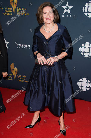 Stock Picture of Lisa LaFlamme arrives at the Canadian Screen Awards, in Toronto, Canada