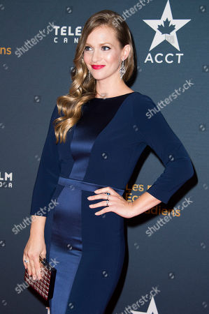 A. J. Cook arrives at the Canadian Screen Awards, in Toronto, Canada