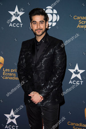 Vinay Virmani arrives at the Canadian Screen Awards, in Toronto, Canada