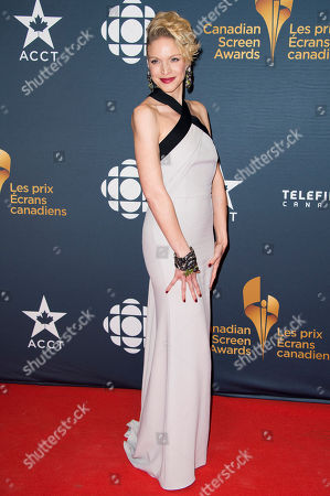 Kristin Lehman arrives at the Canadian Screen Awards, in Toronto, Canada
