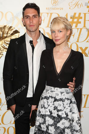 Gabe Saporta, left, and Erin Fetherston, right, attend 2015 CFDA Fashion Awards After Party co-hosted by Refinery29 at The Boom Boom Room in The Standard Hotel, in New York