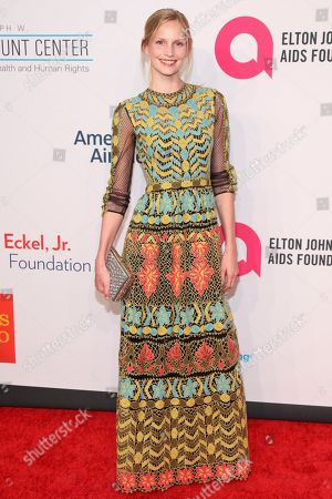 """Katrin Thormann attends the Elton John AIDS Foundationâ?™s 14th Annual """"An Enduring Vision"""" Benefit at Cipriani Wall Street, in New York"""