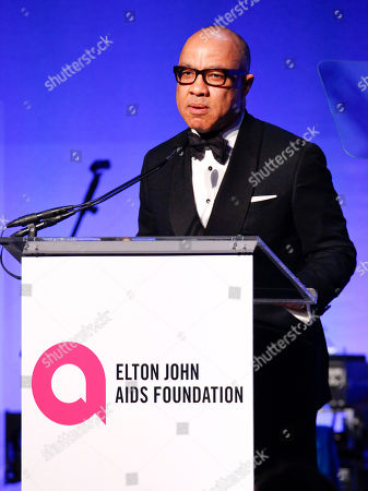 "President of the Ford Foundation Darren Walker speaks at the Elton John AIDS Foundation's 14th Annual ""An Enduring Vision"" Benefit at Cipriani Wall Street, in New York"